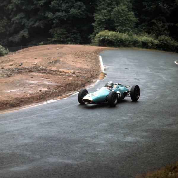 Nurburgring, Germany. 3-5 August 1962. Jack Brabham, Brabham BT3 Climax. Ref: 3/0630. World Copyright - LAT Photographic
