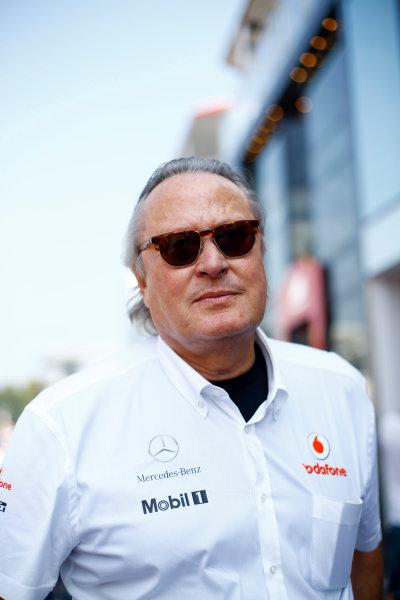 Autodromo Nazionale di Monza, Monza, Italy.9th September 2012. Mansour Ojjeh, Investor, McLaren.World Copyright:Steven Tee/LAT Photographicref: Digital Image _14P4979