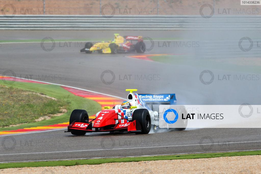 ALCANIZ (ESP) APR 24-26 2015 - First round of World Series by Renault 2015 at Motorland Aragon. Oliver Rowland #4 Fortec. Action. © 2015 Diederik van der Laan  / Dutch Photo Agency / LAT Photographic