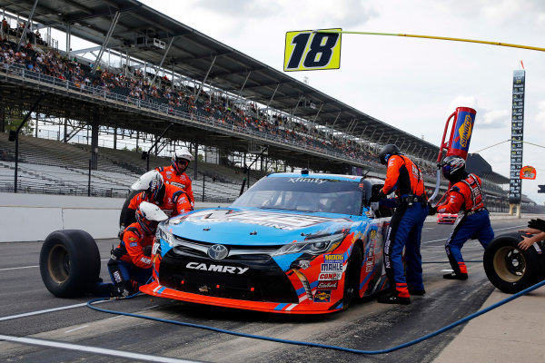 22-23 July, 2016, Indianapolis, Indiana USA Kyle Busch, NOS Energy Drink Toyota Camry pit stop  ?2016, Russell LaBounty LAT Photo USA