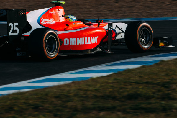 2016 GP2 Series Testing. Jerez, Spain. Wednesday 30 March 2016 Jimmy Eriksson (SWE) Arden International  World Copyright: Malcolm Griffiths/LAT Photographic. ref: Digital Image F80P7502