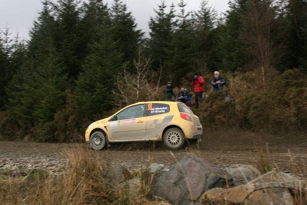 Bulldog Rally, Wales 28th March,Tom Walster/Tim Sturla - Renault Clio R3World Copyright: Ebrey/LAT Photographic