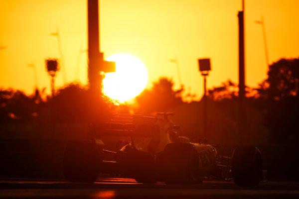 Yas Marina Circuit, Abu Dhabi, United Arab Emirates. Wednesday 29 November 2017. Sergio Perez, Force India VJM10 Mercedes.  World Copyright: Zak Mauger/LAT Images  ref: Digital Image _56I7153