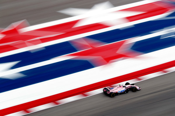 Circuit of the Americas, Austin, Texas, United States of America. Friday 20 October 2017. Esteban Ocon, Force India VJM10 Mercedes. World Copyright: Sam Bloxham/LAT Images  ref: Digital Image _J6I6503