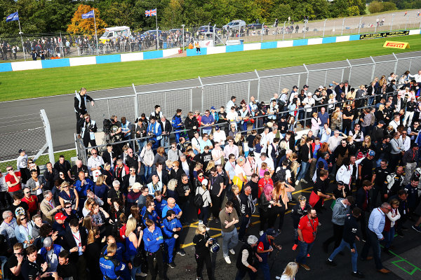2017 British GT Championship, Donington Park, Leicestershire. 23rd - 24th September 2017. Crowds at Donington Park. World Copyright: JEP/LAT Images