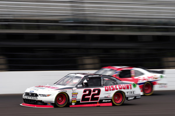 NASCAR XFINITY Series Lilly Diabetes 250 Indianapolis Motor Speedway, Indianapolis, IN USA Friday 21 July 2017 Joey Logano, Discount Tire Ford Mustang World Copyright: Michael L. Levitt LAT Images
