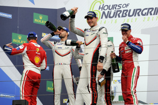2017 World Endurance Championship, Nurburgring, Germany. 14th-16th July 2017 GT Pro Podium  World copyright. JEP/LAT Images