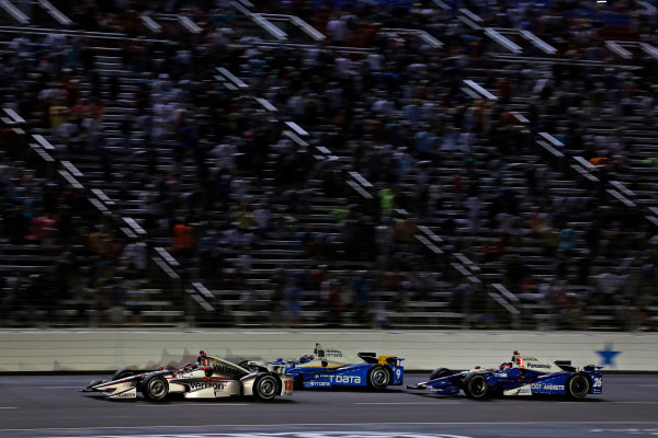 Verizon IndyCar Series Rainguard Water Sealers 600 Texas Motor Speedway, Ft. Worth, TX USA Saturday 10 June 2017 Will Power, Team Penske Team Penske Chevrolet, Scott Dixon, Chip Ganassi Racing Teams Honda World Copyright: Phillip Abbott LAT Images ref: Digital Image abbott_texasIC_0617_5061