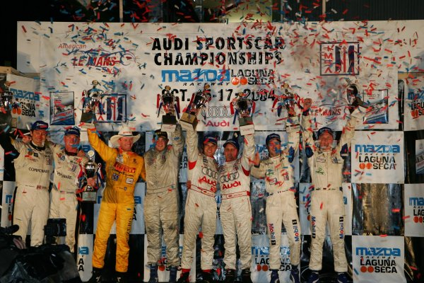 2004 American Le Mans Series (ALMS)Laguna Seca, California, USA. 15 - 16 October.All 4 class winners.World Copyright: Richard Dole/LAT Photographicref: Digital Image Only