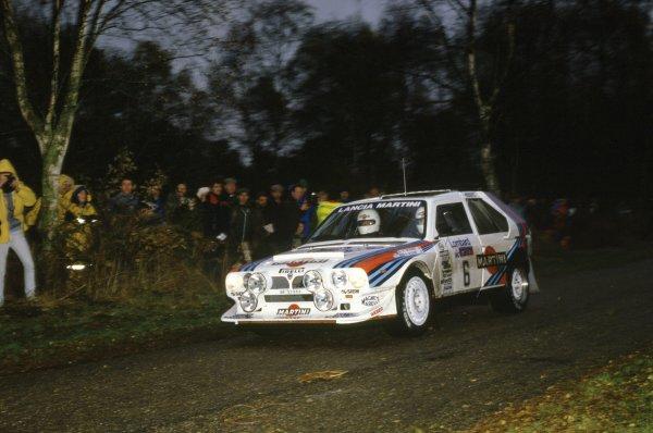 1985 World Rally Championship.Lombard RAC Rally, Great Britain. 24-28 November 1985.Henri Toivonen/Neil Wilson (Lancia Delta S4), 1st position.World Copyright: LAT PhotographicRef: 35mm transparency 85RALLY10