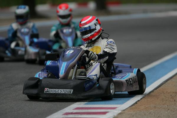 2005 GP2 Karting Challenge13th June 2005Nelson Piquet Jr. (BR, Hitech Piquet Racing). Action. Circuit Paul Ricard, FranceWorld Copyright: GP2 SeriesDigital Image Only