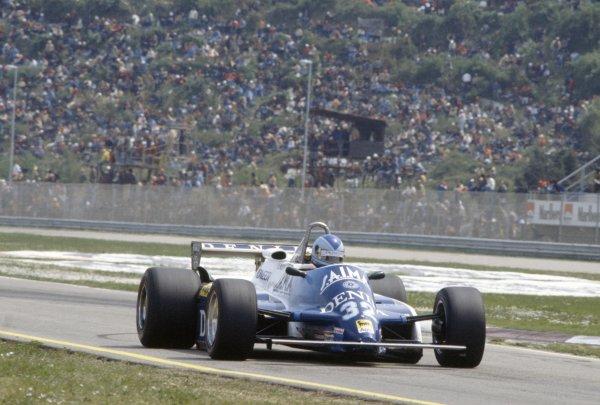 1982 San Marino Grand Prix.Imola, Italy. 23-25 April 1982.Riccardo Paletti (Osella FA1C-Ford Cosworth), retired.World Copyright: LAT PhotographicRef: 35mm transparency 82SM30