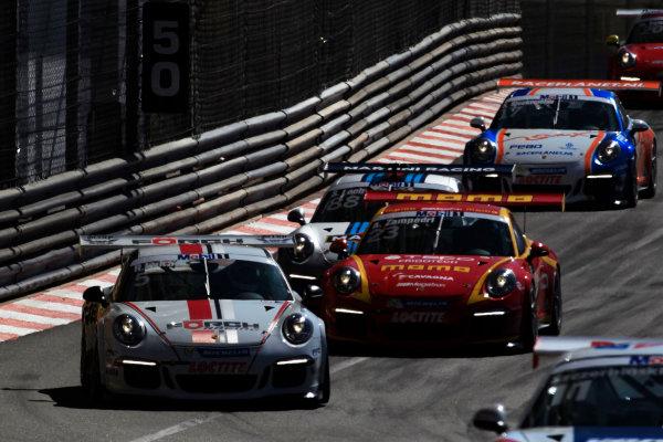 Monte Carlo, Monaco 26th May 2013 Robert Lukas, #5 FORCH Racing by Lukas MS, leads Alessandro Zampedri, #23 MOMO-Megatron, and Sebastien Loeb, #88 Porsche AG.  World Copyright: Charles Coates/LAT Photographic ref: Digital Image _X5J4272