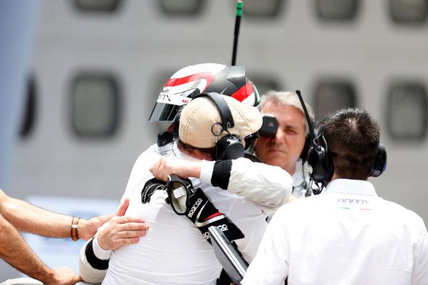 2013 GP2 Series. Round 1.  Sepang, Kuala Lumpur, Malaysia. 24th March 2013.  Sunday Race.  Stefano Coletti (MON, Rapax) celebrates his victory.  World Copyright: Alastair Staley/GP2 Series Media Service.  ref: _R6T2123
