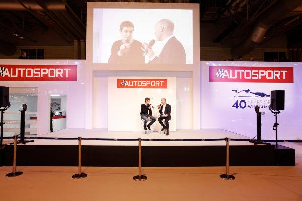 Autosport International Exhibition. National Exhibition Centre, Birmingham, UK. Thursday 12 January 2017. James Nash with Toby Moody. World Copyright: Joe Portlock/LAT Photographic. Ref: _14P1971