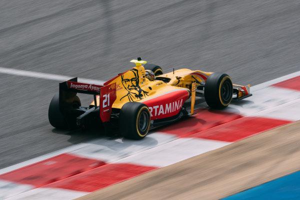 Bahrain International Circuit, Sakhir, Bahrain. Friday 31 March 2017 Sean Gelael (INA) Pertamina Arden   Photo: Malcolm Griffiths/FIA Formula 2 ref: Digital Image MALC0056