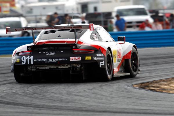 2017 Rolex 24 Hours. Daytona, Florida, USA Thursday 26 January 2017. #911 Porsche Team North America Porsche 911 RSR: Patrick Pilet, Dirk Werner, Fr?d?ric Makowiecki World Copyright: Alexander Trienitz/LAT Images ref: Digital Image 2017-24h-Daytona-AT2-0341