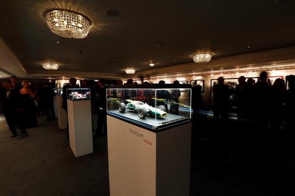 2017 Autosport Awards Grosvenor House Hotel, Park Lane, London. Sunday 3 December 2017. Amalgam models on display. World Copyright: Zak Mauger/LAT Images Ref: Digital Image _56i0502