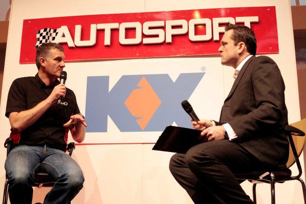 Autosport International Show NEC, Birmingham.  Thursday 10th January 2013. Shaun Hollamby on stage. World Copyright:Alastair Staley/LAT Photographic ref: Digital Image _MG_0825