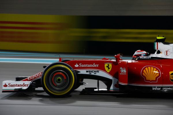 Yas Marina Circuit, Abu Dhabi, United Arab Emirates. Sunday 27 November 2016. Kimi Raikkonen, Ferrari SF16-H. World Copyright: Andrew Hone/LAT Photographic ref: Digital Image _ONY7602