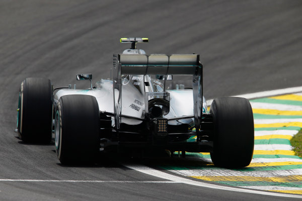 Interlagos, Sao Paulo, Brazil. Friday 7 November 2014. Nico Rosberg, Mercedes F1 W05 Hybrid. World Copyright: Charles Coates/LAT Photographic. ref: Digital Image _N7T7545