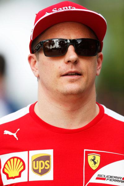 Sepang International Circuit, Sepang, Kuala Lumpur, Malaysia. Friday 27 March 2015. Kimi Raikkonen, Ferrari. World Copyright: Alastair Staley/LAT Photographic. ref: Digital Image _79P4856