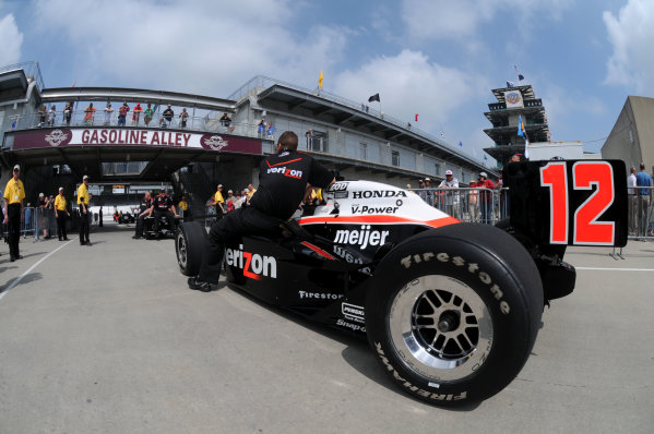 14-20 May, 2011, Indianapolis, Indiana, USAWill Power's car is towed to the pit lane.©2011, Paul WebbLAT Photo USA
