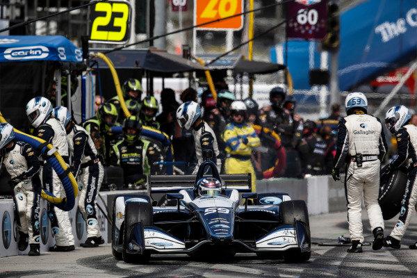 Max Chilton, Carlin Chevrolet, pit stop