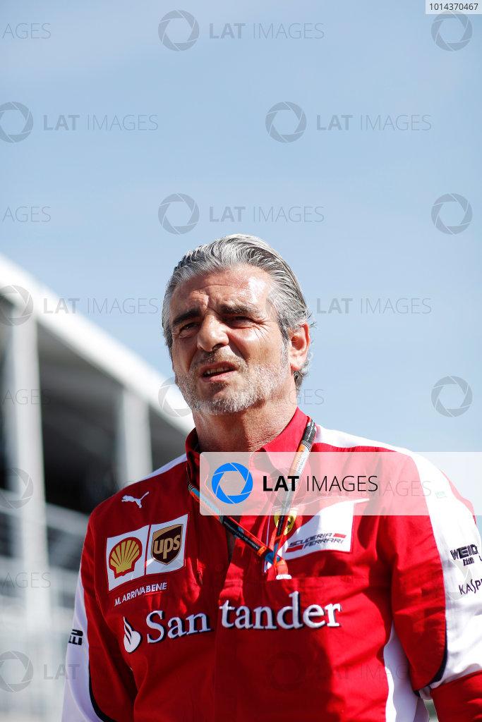 Circuit Gilles Villeneuve, Montreal, Canada. Thursday 4 June 2015. Mauricio Arrivabene, Team Principal, Ferrari.  World Copyright: Alastair Staley/LAT Photographic. ref: Digital Image _79P8508