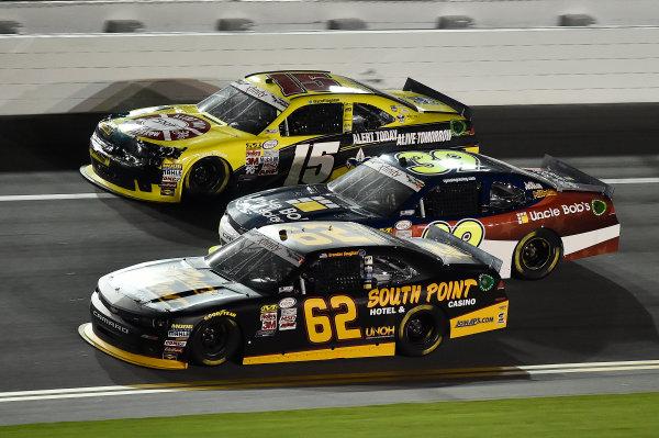3-4 July, 2015, Daytona Beach, Florida USA Brendan Gaughan (62), Ryan Sieg (39), Scott Lagasse Jr (15) ?2015, John Harrelson / LAT Photo USA