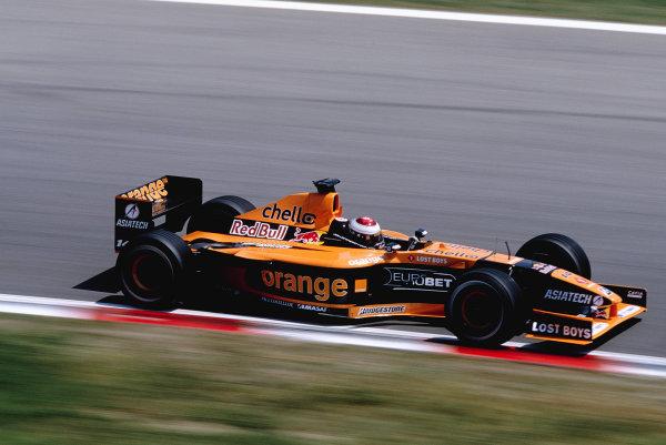 2001 Spanish Grand Prix.Catalunya, Barcelona, Spain. 27-29 April 2001.Jos Verstappen (Arrows A22 Asiatech).Ref-01 ESP 27.World Copyright - Clive Rose/LAT Photographic