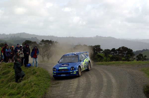 2002 World Rally Championship.Propecia Rally of New Zealand, Auckland, October 3rd-6th.Tommi Makinen during shakedownPhoto: Ralph Hardwick/LAT