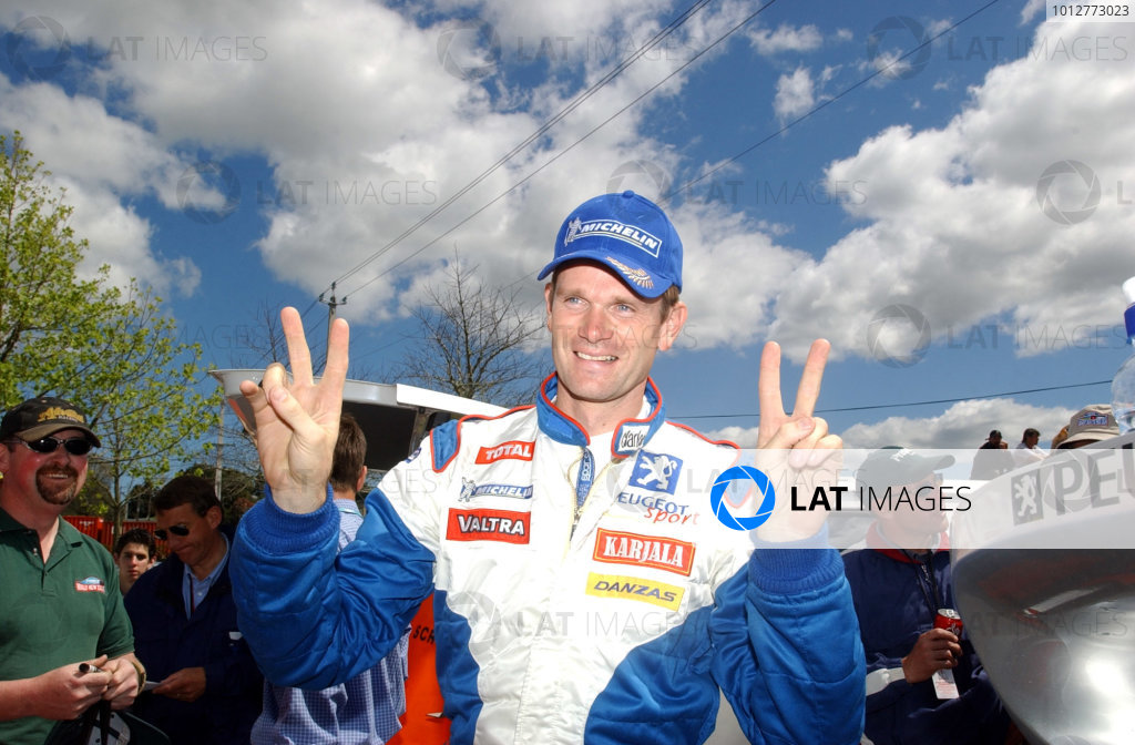 2002 World Rally Championship.Propecia Rally of New Zealand, Auckland, October 3rd-6th.Marcus Gronholm double World ChampionPhoto: Ralph Hardwick/LAT