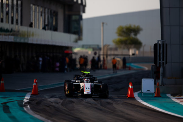 YAS MARINA CIRCUIT, UNITED ARAB EMIRATES - DECEMBER 05: Pedro Piquet (BRA, Charouz Racing System) during the Abu Dhabi at Yas Marina Circuit on December 05, 2019 in Yas Marina Circuit, United Arab Emirates. (Photo by Joe Portlock / LAT Images / FIA F2 Championship)