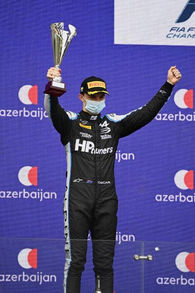 Oscar Piastri (AUS, Prema Racing), 2nd position, on the podium