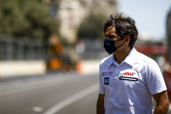 Pietro Fittipaldi, reserve driver, Haas F1 walks the track