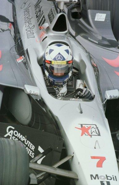 1998 British Grand Prix.Silverstone, England.10-12 July 1998.David Coulthard (McLaren MP4/13 Mercedes-Benz).World Copyright - Steve Etherington/LAT Photographic