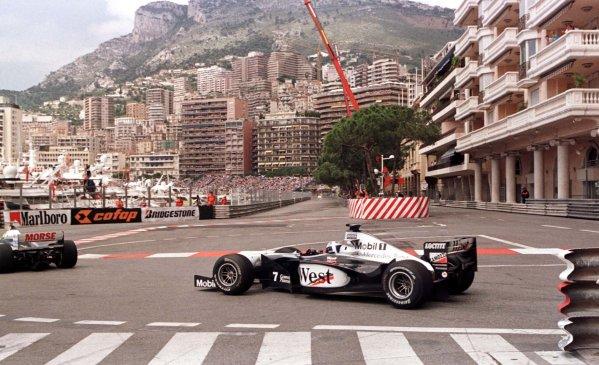 1998 Monaco Grand Prix.Monte Carlo, monaco.21-24 May 1998.David Coulthard (McLaren MP4/13 Mercedes-Benz) during practice.World Copyright - LAT Photographic