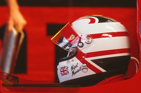 Nigel Mansell (GBR) Ferrari 641, DNF