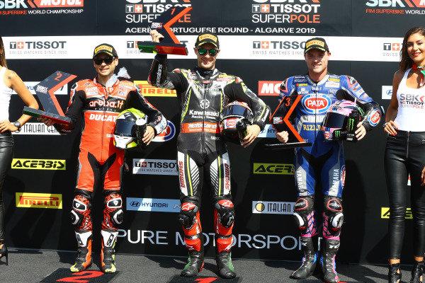 Alvaro Bautista, Aruba.it Racing-Ducati Team, Jonathan Rea, Kawasaki Racing Team, Alex Lowes, Pata Yamaha.