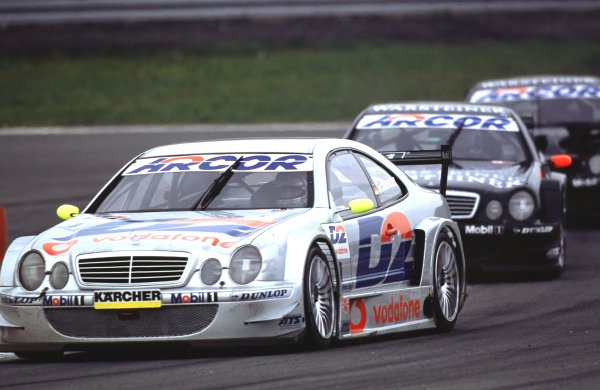 2001 DTM ChampionshipNurburgring, Germany. 6th May 2001.Bernd Scnedier ( AMG Mercedes-Benz CLK) action.World Copyright: Clive Rose/LAT Photographicref:35mm Image A07