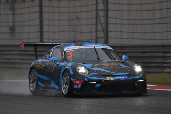 Michael S. (INA) OpenRoad Racing at Porsche Carrera Cup Asia, Shanghai, China, 13-15 April 2018.