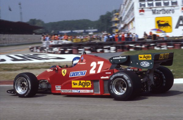 1983 San Marino Grand Prix.Imola, Italy.29/4-1/5 1983.Patrick Tambay (Ferrari 126C2B) 1st position.Ref-83 SM 07.World Copyright - LAT Photographic