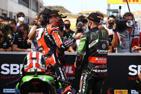 Scott Redding, Aruba.it Racing Ducati, Jonathan Rea, Kawasaki Racing Team.
