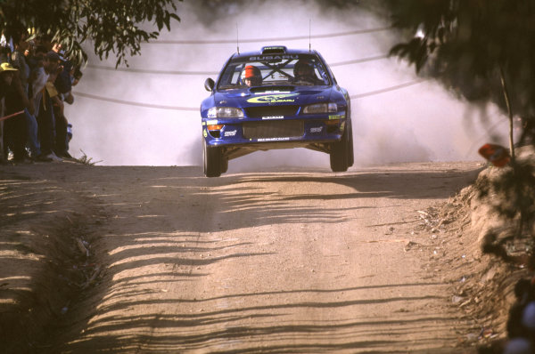 FIA World Rally ChampionshipPortuguese Rally, Porto, Portugal.16-19th March 2000.Richard Burns and Robert Reid - Subaru.World - LAT PhotographicTel: +44 (0) 181 251 3000Fax: +44 (0) 181 251 3001e-mail: latdig@dial.pipex com