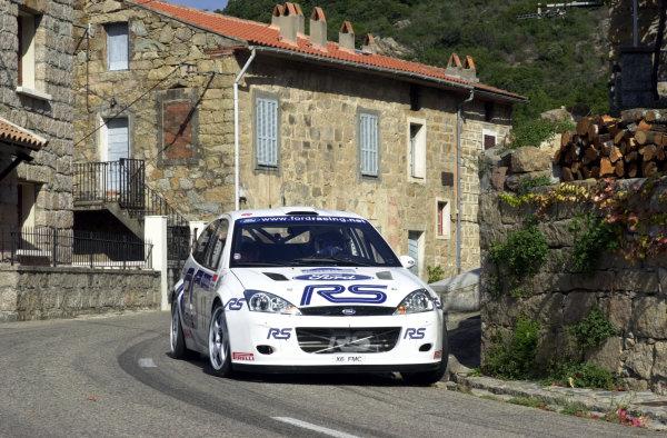 2001 World Rally Championship.Rallye de France, Ajaccio, Corsica, October 19-21.Francois Delecour on stage 3.Photo: Ralph Hardwick/LAT
