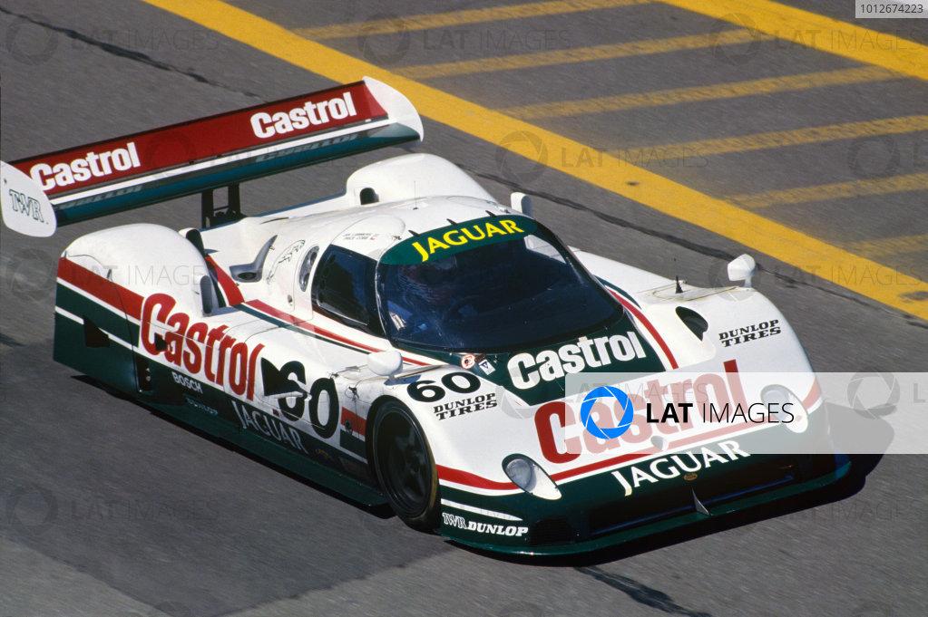 Lime Rock, Lakeville, Connecticut, USA. 29th June 1989. Jan Lammers/ Price Cobb (Jaguar XJR-10), 2nd position, action. World Copyright: LAT Photographic. Ref:  Colour Transparency.