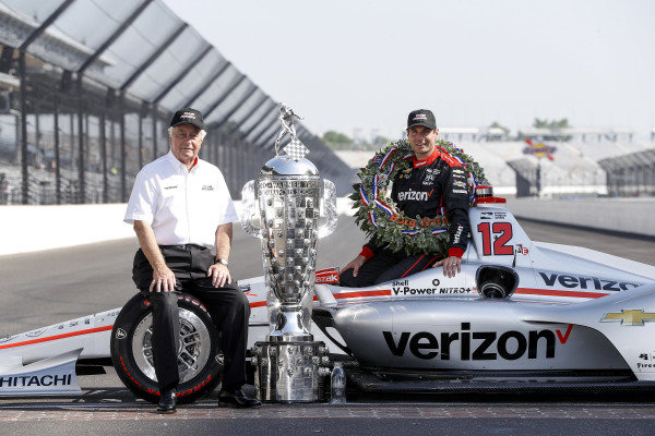 Winner Will Power, Team Penske Chevrolet and Roger Penske Winner Will Power, Team Penske Chevrolet and team