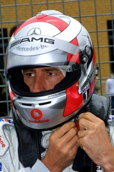 Race winner Bernd Schneider (GER) Vodafone AMG Mercedes.DTM Championship, Rd6, Lausitzring, Germany. 14 July 2002.DIGITAL IMAGE