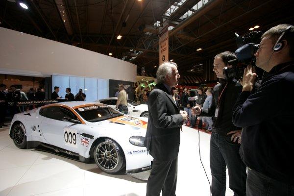 2008 Autosport International Show - ThursdayNEC, Birmingham. 10th January 2008.David Richards talks about the Aston Martin DBR9 in Gulf colours.World Copyright: Gary Hawkins/LAT Photographicref: Digital Image _58K0420